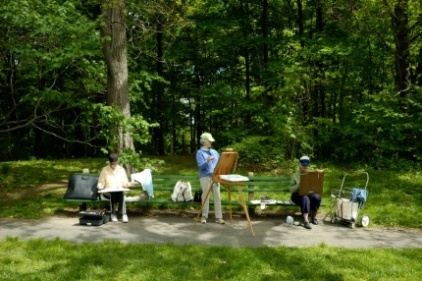 Arboretum artists - photo by Mimi Katz